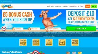 Costa Bingo: Join The Biggest, Brightest Online Bingo Community