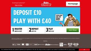 Sun Bingo – 24/7 High Quality Online Bingo Rooms
