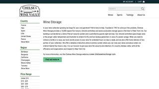 Wine Storage - Chelsea Wine Vault