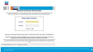 Ariba Dashboard - Chevron eProcurement - Chevron Corporation