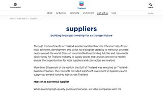 Suppliers Opportunities — Thailand.chevron.com