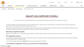 Qualify as a supplier to Shell | Shell Global
