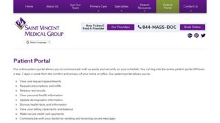 Patient Portal | Saint Vincent Medical Group