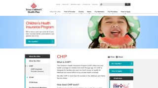 CHIP | Texas Children's Health Plan