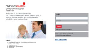 Provider Portal - Children's Medical Center Health Plan