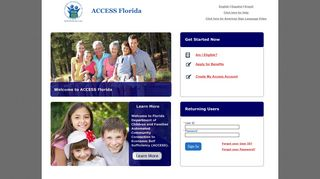 ACCESS - Login Page - Florida Department of Children and Families