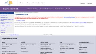 Child Health Plus - New York State Department of Health - NY.gov
