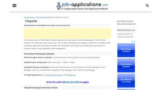 Chipotle Application, Jobs & Careers Online - Job-Applications.com