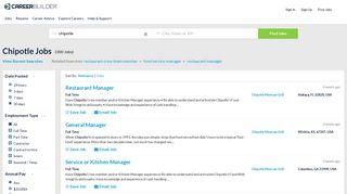 Chipotle Jobs - Apply Now | CareerBuilder