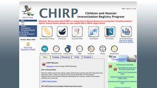 CHIRP-Web Main Page
