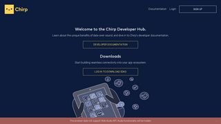 Chirp | Developer friendly data over sound SDKs