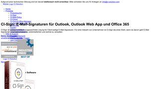 CI-Sign - E-Mail-Signaturen zentral und dynamisch verwalten