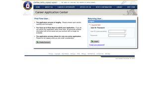 e-Recruiting - Logon - CIA