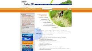 Immigration-Québec - Home Page