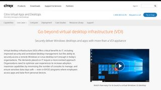 Virtual Desktop Infrastructure (VDI) Appliance - Citrix