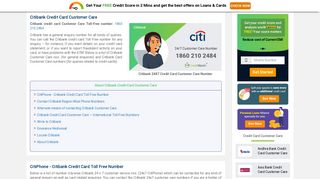 Citibank Credit Card Customer Care Number: 24x7 - CreditMantri