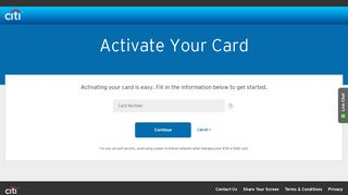 Activate Your Card - Citibank