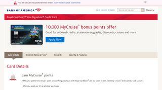 Royal Caribbean® Credit Card from Bank of America