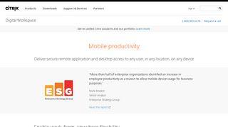 Remote Application and Desktop Access - Citrix