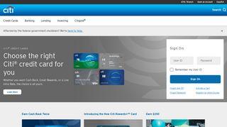 Banking with Citi | Citi.com