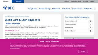 Citibank and Amex Credit Card and Loan Payments ... - BFC Bahrain