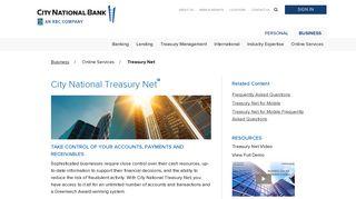 City National Treasury Net   - City National Bank