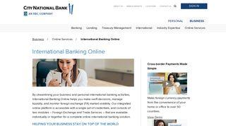 Treasury Net - City National Bank - CNB.com