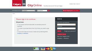 My Account - CITYonline - The City of Calgary