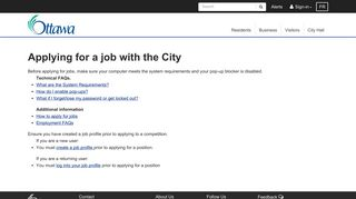 Applying for a job with the City - City of Ottawa