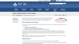Career Opportunities at The Hospital | The Ottawa Hospital
