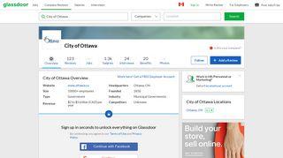 Working at City of Ottawa | Glassdoor.ca