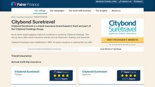Citybond Suretravel reviews • Fairer Finance