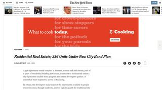 Residential Real Estate; 356 Units Under New City Bond Plan - The ...