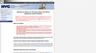 Welcome to the City of New York Online ... - OASys - NYC.gov