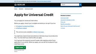 Apply for Universal Credit - GOV.UK