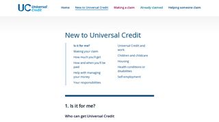 Understanding Universal Credit - Can I apply for Universal Credit?