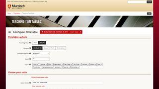 Teaching Timetables - Murdoch University: Timetables