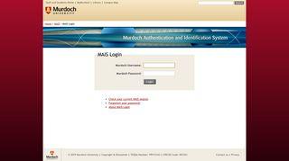 MAIS Login - Murdoch University