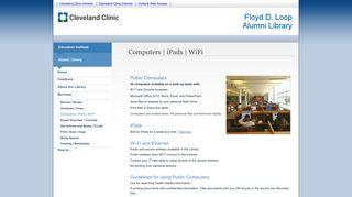 Alumni Library   Computers, iPads, Wi-Fi - Cleveland Clinic