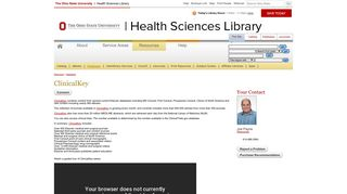 ClinicalKey   Health Sciences Library