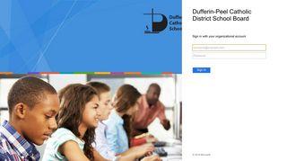 Sign In - Dufferin-Peel Catholic District School Board