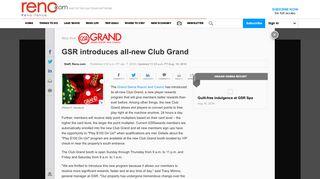 GSR introduces all-new Club Grand - Reno.com
