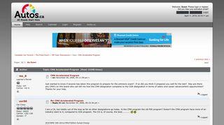 Autos.ca Forum: CMA Accelerated Program