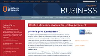 Certified Management Accountants (CMA) Agreement - AU Faculty of ...
