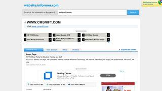 cmsnift.com at WI. Login Page - Website Informer