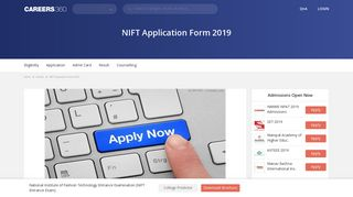 NIFT Application Form 2019, Registration - Apply with Late Fee Now