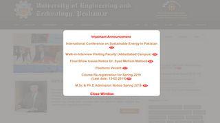 University of Engineering & Technology, Peshawar, Pakistan