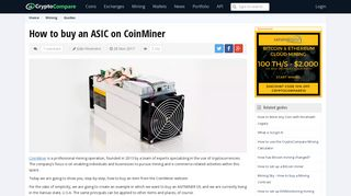 How to buy an ASIC on CoinMiner | CryptoCompare.com