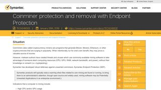 Coinminer protection and removal with Endpoint Protection