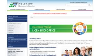 Licensing Office | CDE - Colorado Department of Education